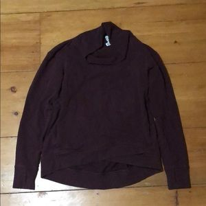 Lulu lemon sweatshirt loose turtle neck